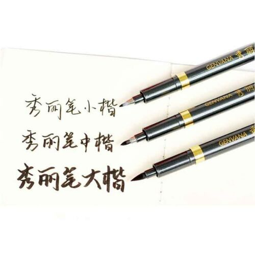 3Pcs Art Ink Pen Drawing Sketch Markers Soft Chinese Japanese Calligraphy Brush