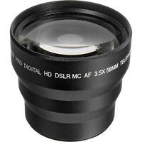 58mm 3.5x Telephoto Zoom Lens For Canon Eos Rebel Xti T3 T4 T5 T5i 30d 20d Xsi
