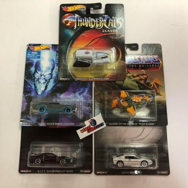 5 Car Set Q Case Hot Wheels Retro Premium Thunder Cats He-Man KITT REPLICA