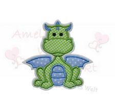 Drache grün blau Aufbügler Aufnäher Bügelbild Patch Sticker zum aufbügeln dragon