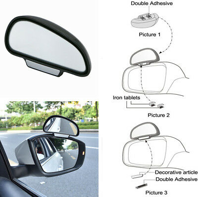 2x Adjustable Angle Side Rear Mirrors Blind Spot Snap Way Rearview Backup Mirror