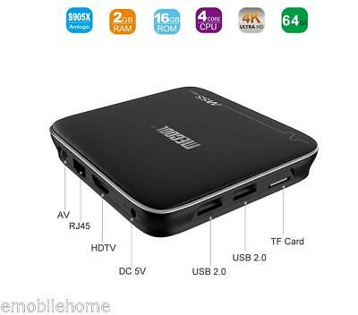 MECOOL M8S Pro+ TV Box 2.4GHz WiFi 64Bit 4K x 2K 1G+8GB/+2G+16GB Media Player