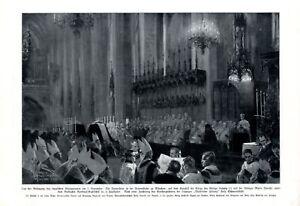 Beerdigung-Bayern-Koenigspaar-Kunstdruck-1921-Koenig-Ludwig-Muenchen-Frauenkirche