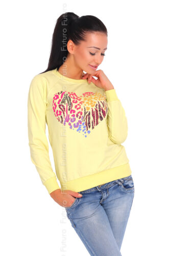 Womens Jumper With Print Pullover Top Sweat Gift For Her Girls Blouse Sweatshirt