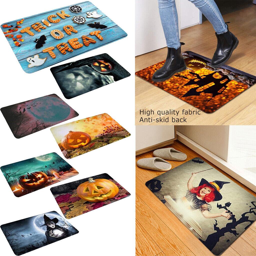 Halloween Pumpkin Bathroom Kitchen Anti-Slip Floor Mat Doorm