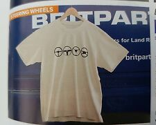 Land Rover Defender T-Shirt Steering Wheels in Grey -Large