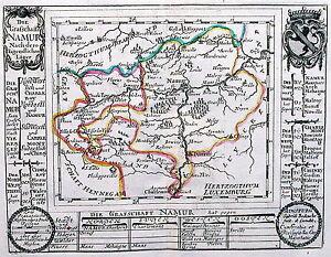 Antique map, Die Grafschaft Namur