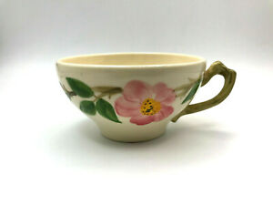"""VINTAGE DESERT ROSE BY FRANCISCAN POTTERY USA FLAT CUP (TEACUP) 2-1/4"""""""