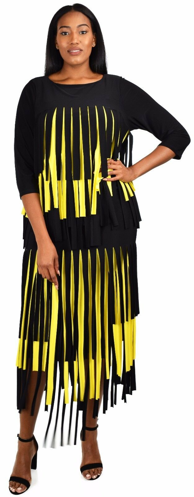 Women 2 Piece Car Wash Skirt Set Maxi Dress Outfit, Regular & Plus Sizes, Yellow