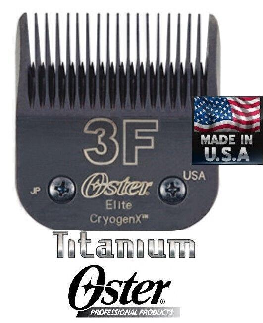 Oster A5 Elite Titanio CryogenX Tosatrice Lama #3F 3FC Last 3 x più Fit A6, Ag