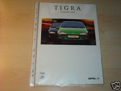 10633) Opel Tigra Color Line Prospekt 1997 Auf Der Ganzen Welt Verteilt Werden