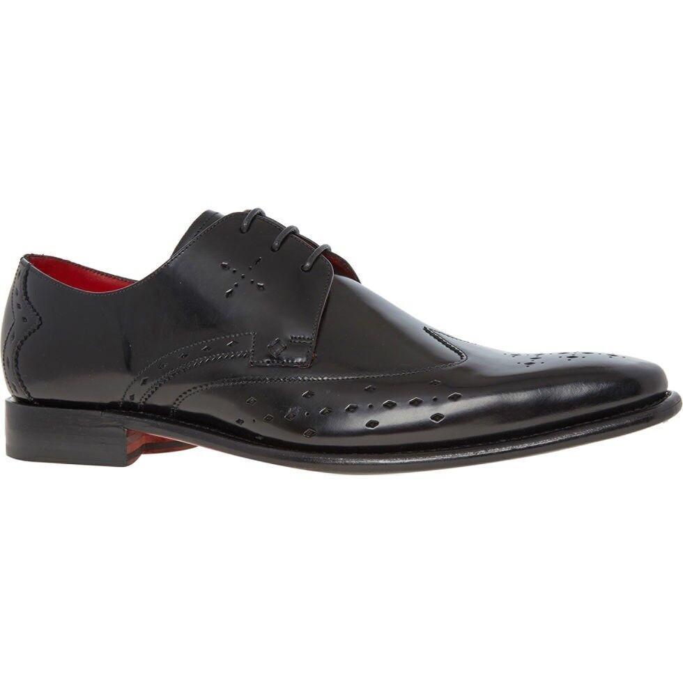 New Jeffery West Punch Gibson Black Polished shoes  UK8 EU 42 US 9 rrp