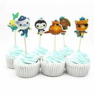 Image Is Loading 12 X Octonauts Cake Toppers Cupcake Picks Kids