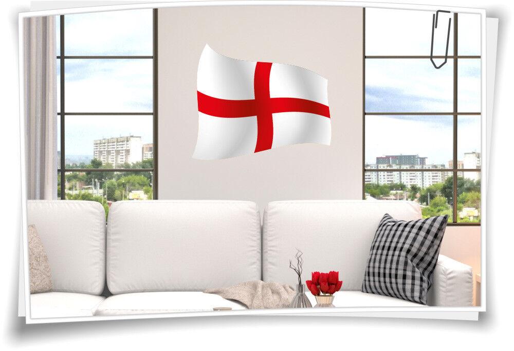 Wandbild England Flagge Aufkleber Fahne Fußball Aufkleber Sport EM WM Pokal