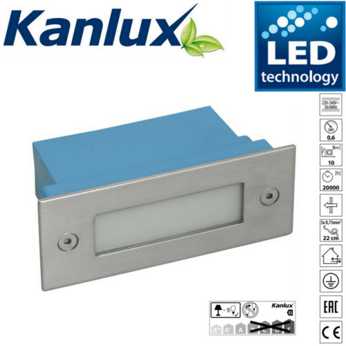 6x Kanlux Taxi IP54 LED Wall Recessed Outdoor Garden Brick Light Cool White