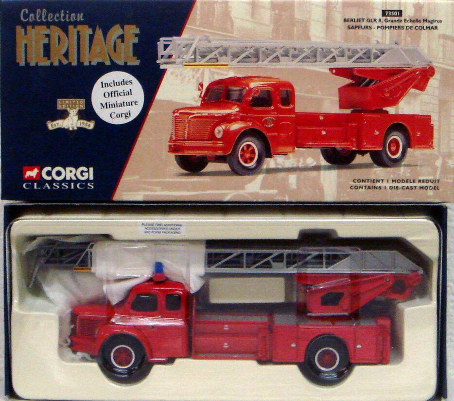 CORGI 73501 1 50 FRENCH Berliet GLR 8 Grande-Echelle Sapeurs Pompiers de Colmar