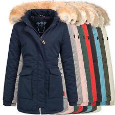 Navahoo Jacke Damen Parka Winter Mantel Winterjacke warm Kunstpelz OMSchneeengel