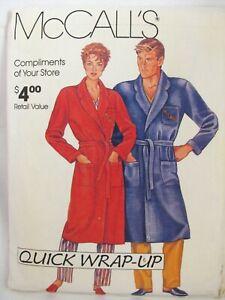 McCalls-Quick-Wrap-Up-Robe-Sewing-Pattern-Sizes-Miss-Mens-S-M-L-XL-32-5-46-Uncut