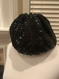 9d315c1fc2d13 Very Sex And The City Black Sequin Beret Hat By Patricia Field