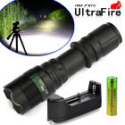 Tactical UltraFire 5000lm 3 Modes CREE T6 LED Flashlight Torch 18650+Charger USA