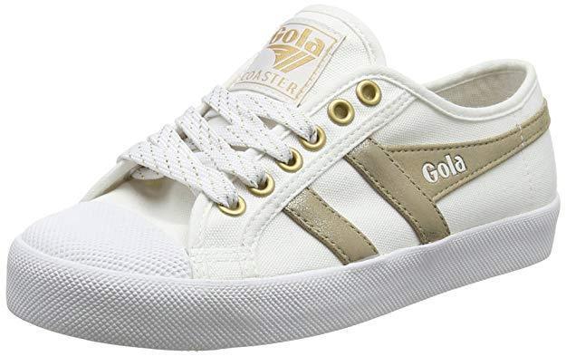 size 40 27752 bdeab Women s Gola Coaster Mirror gold Size UK 3 EU 36 White Trainers  hpumjs5117-Women s Trainers