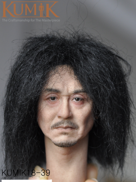 12/'/' Action Figure 1:6 Scale Male Man Whiskers Head Sculpt Model KUMIK KM16-91