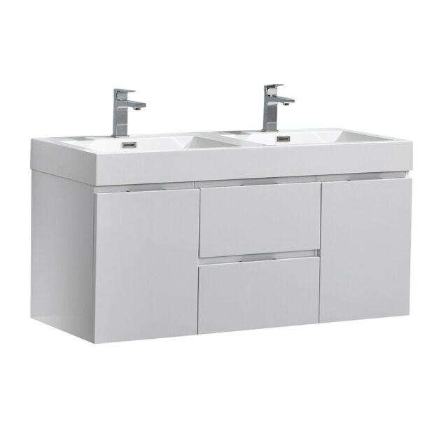 Signature Hardware 48 Nellie Farmhouse Bathroom Sink Vanity Dark Gray For Sale Online Ebay