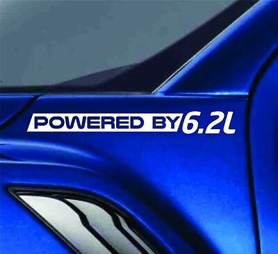 Powered By 6.2L Sticker Vinyl Decal Truck Fender Decal For Ford F150 F250 Trucks