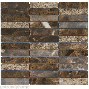 Image Is Loading Emperador Dark Brown Marble Stone Mosaic Tile Texture