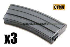CYMA-190rds-Mid-Cap-Airsoft-Toy-Magazine-For-Marui-Kingarms-JG-ICS-AEG-M007-3PCS