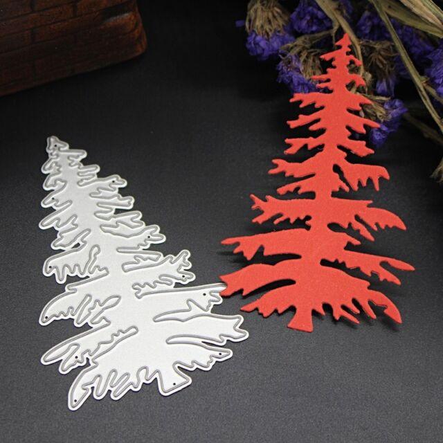 Christmas Tree Cutting Dies Stencil Scrapbooking Embossing Paper Cards Craft DIY