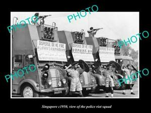 OLD-LARGE-HISTORIC-PHOTO-OF-SINGAPORE-THE-SINGAPORE-POLICE-RIOT-SQUAD-c1950