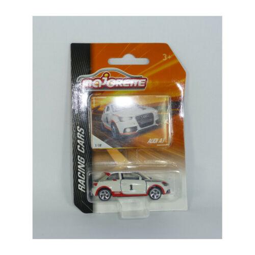 Racing Cars 1:64 Modellauto NEU!° Majorette 212084009 Audi A1 #1 weiss