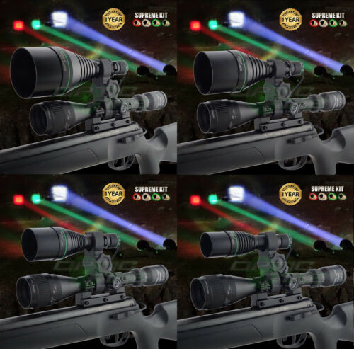 Opticfire® XS 4 LED Scope mount gun light hunting torch lamping lamp supreme kit