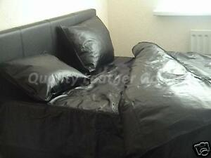 100 genuine premium cow leather duvet cover all sizes black two side leather ebay - Housse de couette all black ...