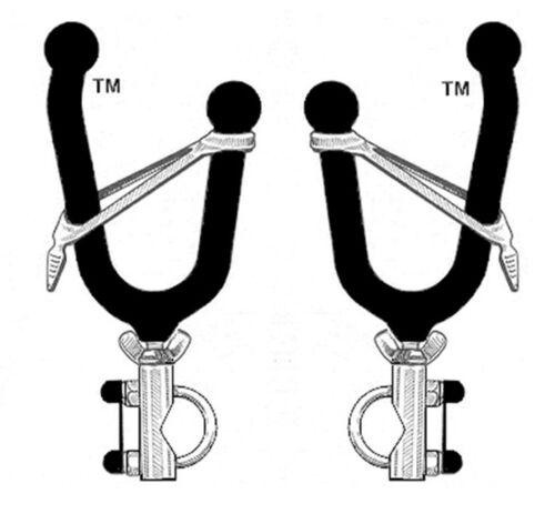 Easy Use Single Gun Grip Tool Holder Pack Rack Great For Any ATV UTV  1-Pair New