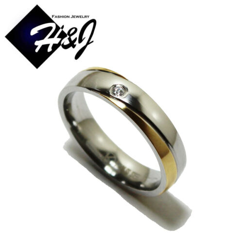Men/'s Women/'s Stainless Steel 5mm Silver Gold Eternity CZ Wedding Band Size 6-13