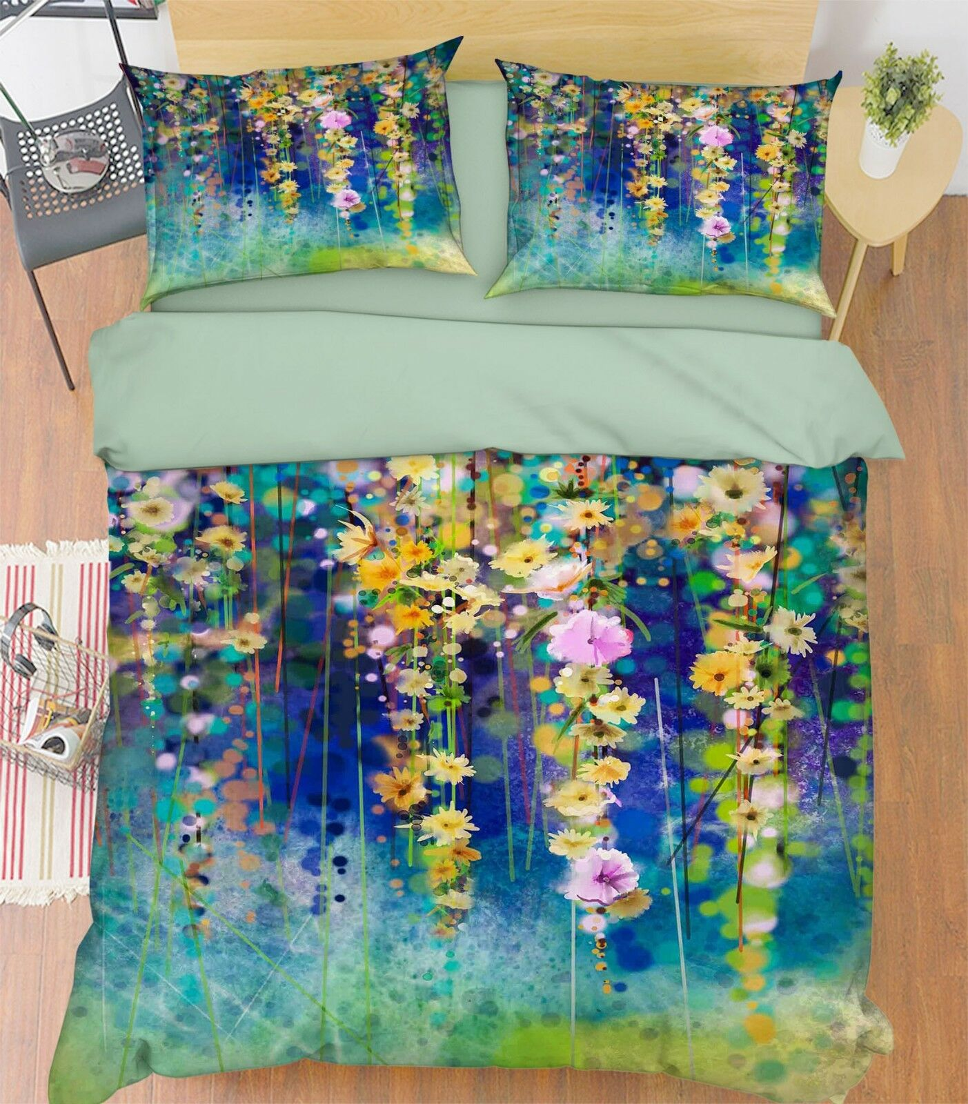 3D Oil Painting 687 Bett Pillowcases Quilt Duvet Startseite Set Single König UK Summer