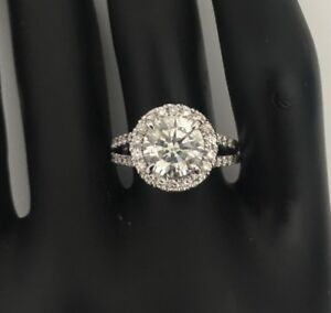 2-5-Carat-ROUND-CUT-D-SI1-HALO-DIAMOND-SOLITAIRE-ENGAGEMENT-RING-14K-WHITE-GOLD