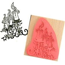 Create /& Craft STYLISED FAIRY Rubber Ink Stamp on Beech Block Free UK P/&P