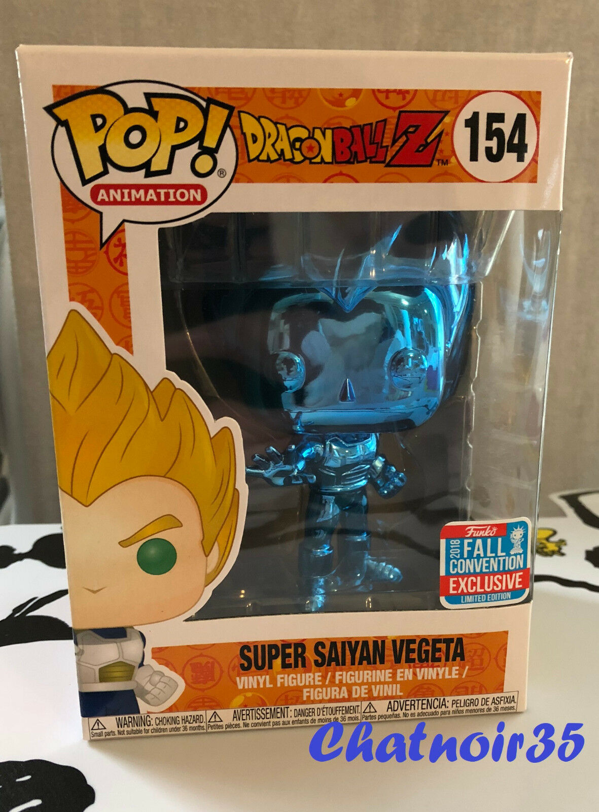 Funko Pop Dragon Ball Z Vegeta azul azul azul Chrome Nycc 2018 - NEUF TBE   240582