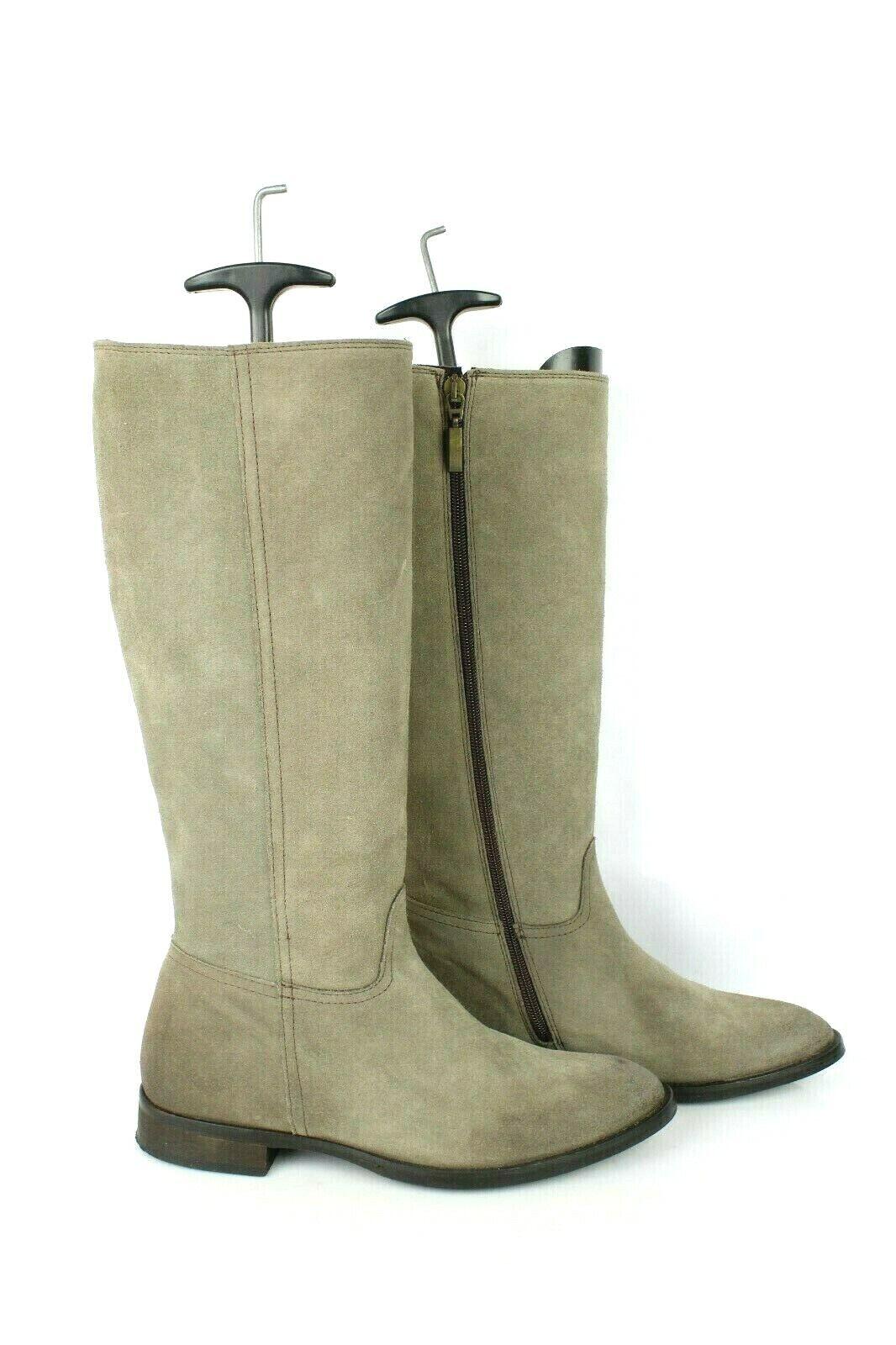 Stiefel Emergence Wildleder Taupe T 37  UK 4 Sehr Guter Zustand