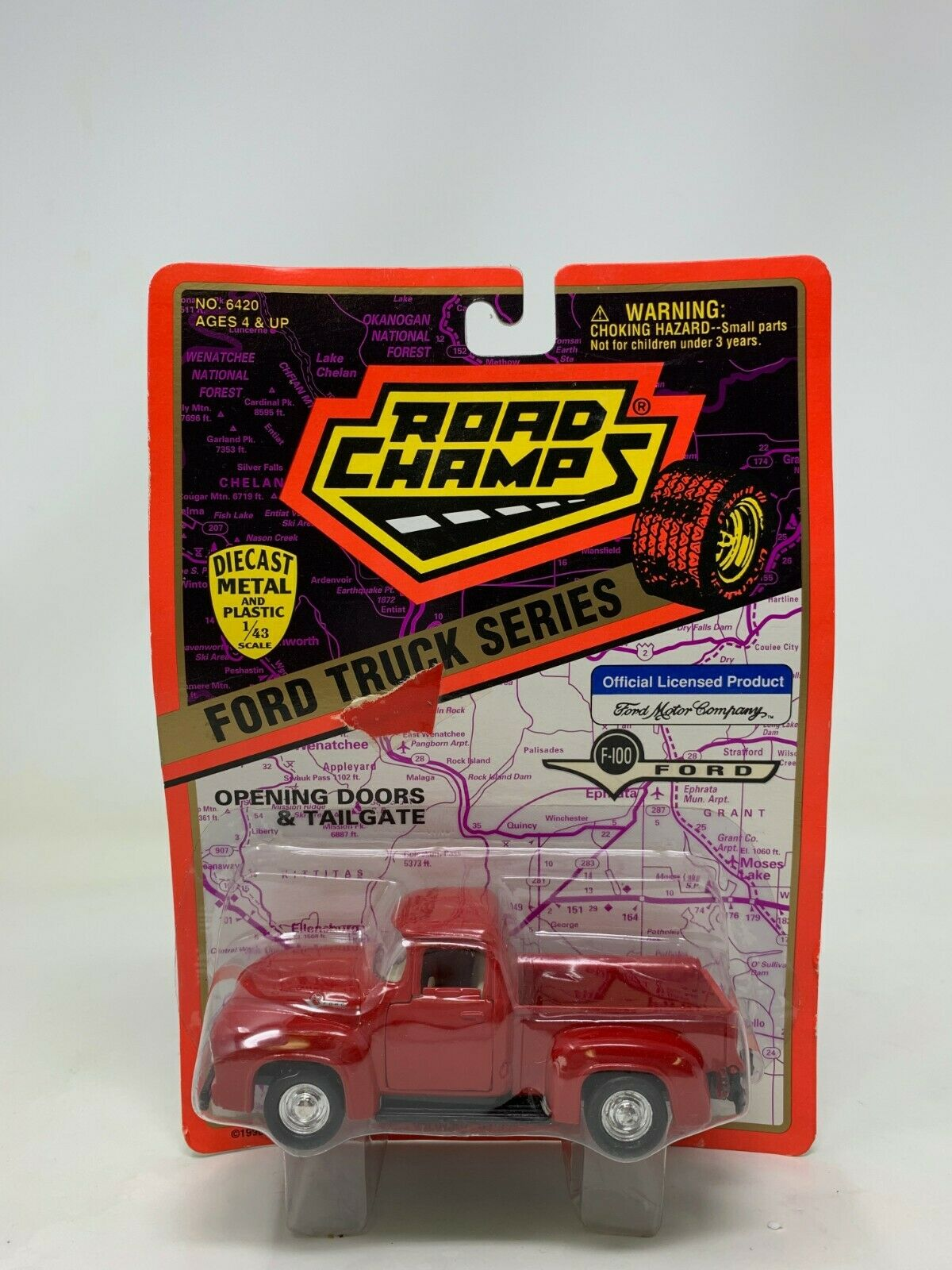 Generation 1966-1972 1//43 Greenlight Modell Auto mit o Ford F-100 Pick-up Rot 5