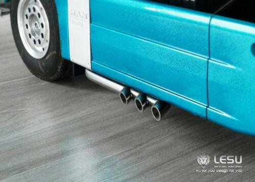 LESU 1//14 RC Model Metal Tee Exhaust Pipe for DIY TAMIYA Scania 1850 Truck Car