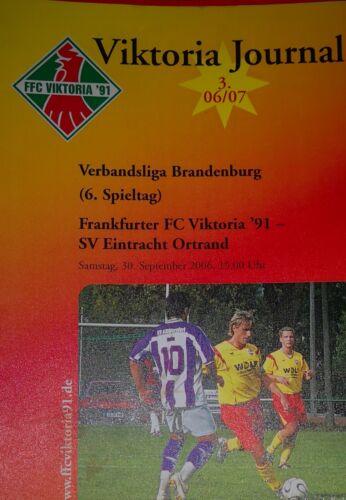 Fußball-Fanshop SV Eintracht Ortrand 2006/07 Verbandsliga Viktoria Frankfut/Oder