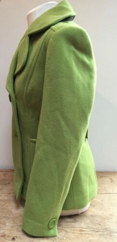 38 korte Double jas Bright Breasted met Jacket 38 breasted Heldergroene Green Preloved dubbele Short erwt Preloved 'autonomy' 'autonomy' Pea UqHAExF