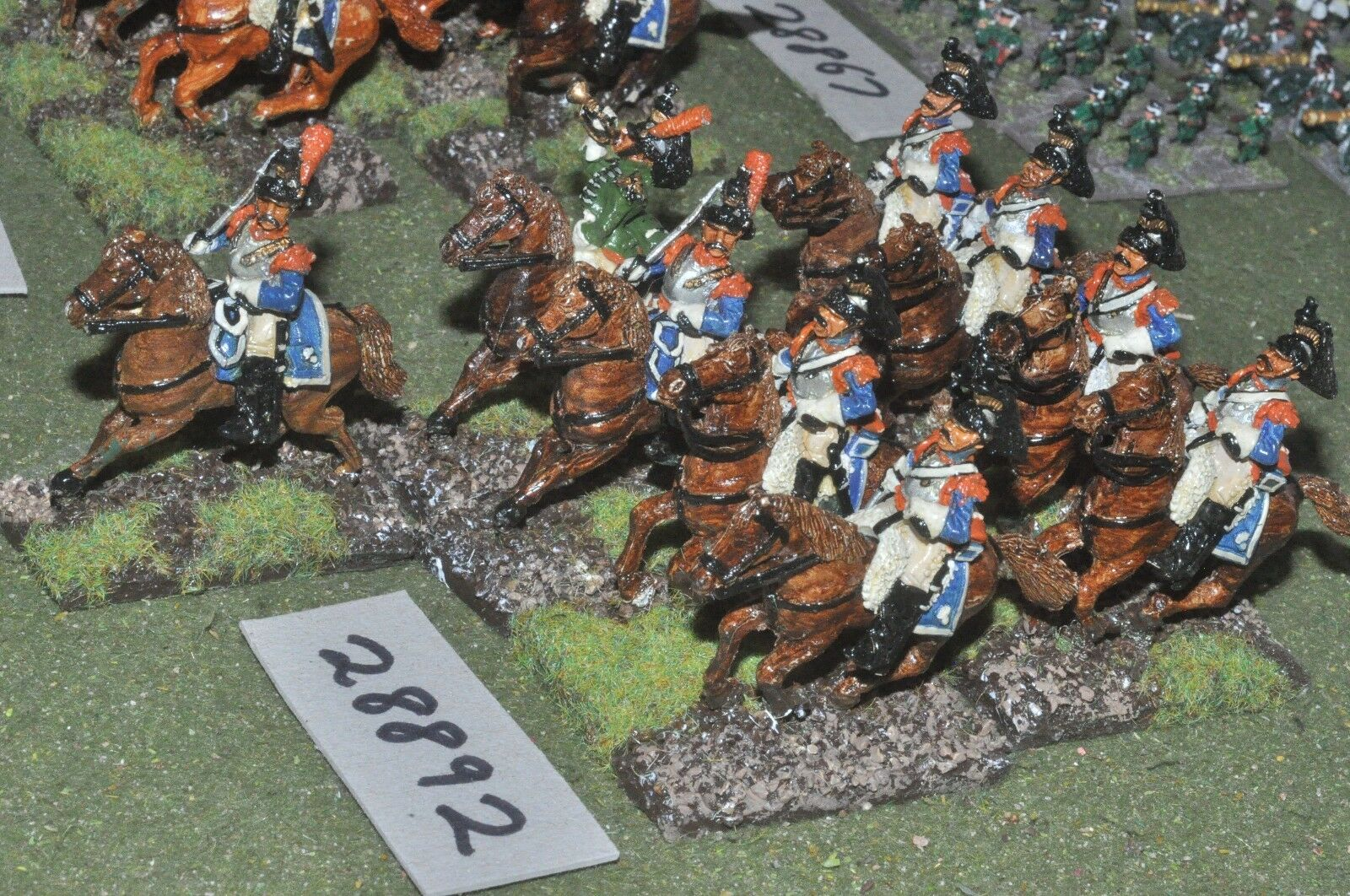 25mm napoleonic   french - cuirassiers 9 figures - cav (28892)