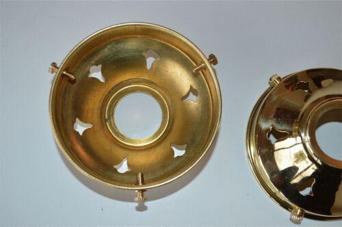Paire de style antique laiton verre abat-jour galerie 3 1//4 pouces l/'abat-jour NR3