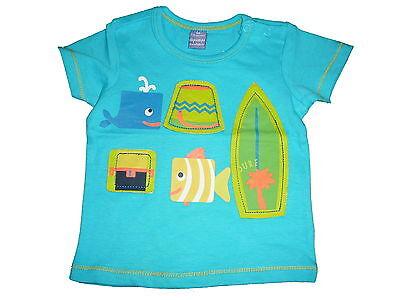 NEU Dopodopo tolles T-Shirt Gr 56 grün mit kleinen Tier Motiven !!