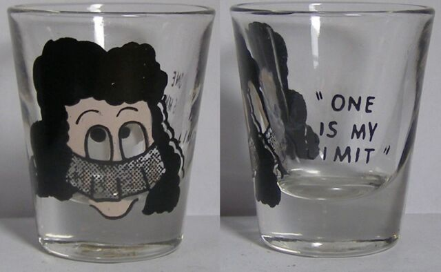 Vintage 1 Is My Limit 3D Eyeballs Shot Glass #3939